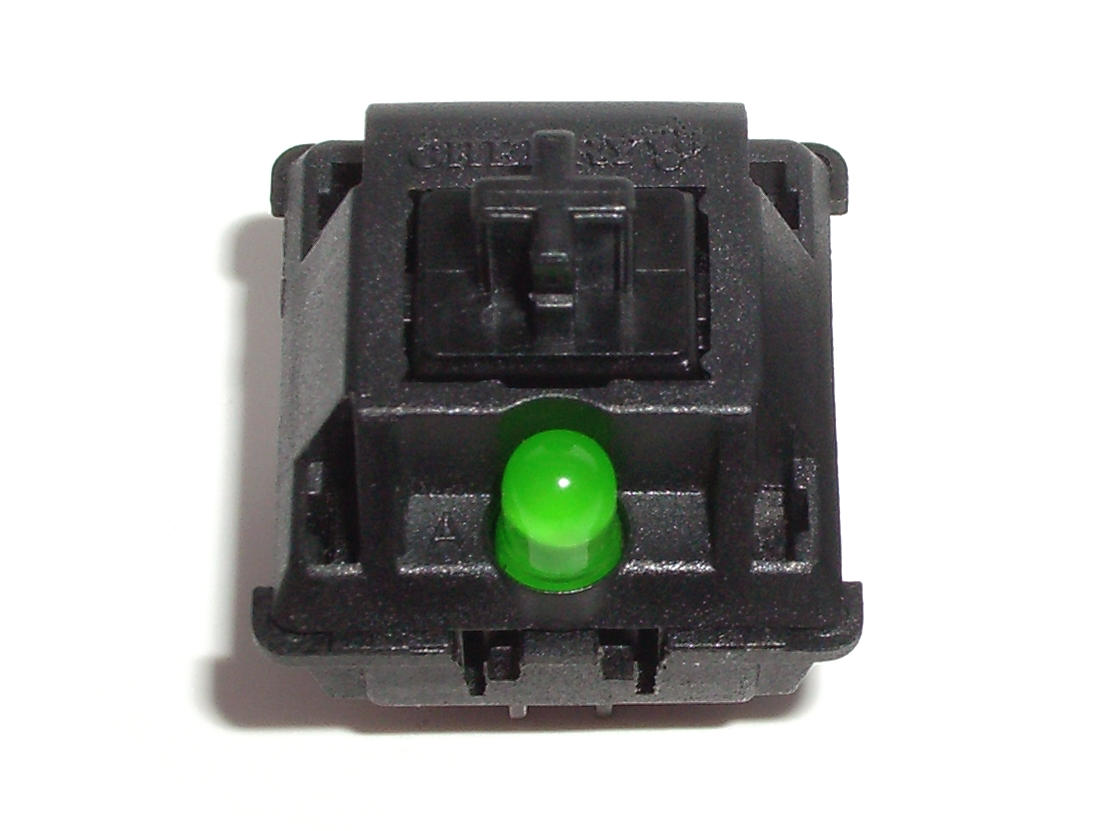 PCB-Mounted Cherry MX Black Switches From a Cherry G80-11900 Keyboard (Top