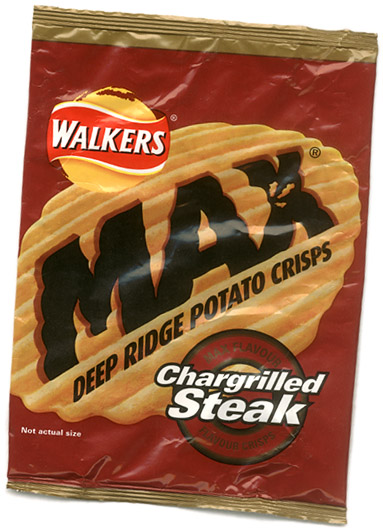 Walkers Max 'not actual size'